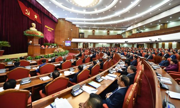 Đại biểu tham dự hội nghị trung ương 9, khoá XII. Ảnh: TTX