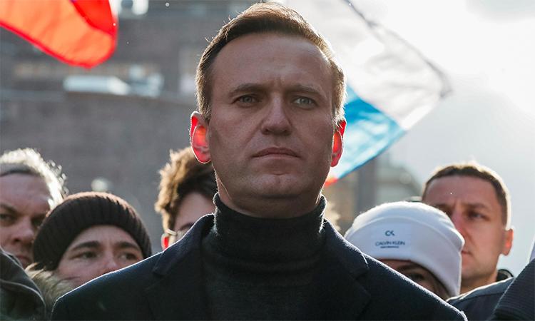Alexei Navalny tham gia một cuộc tuần hành ở Moskva, Nga, tháng 2/2019. Ảnh: Reuters.