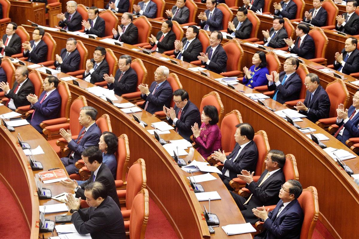 Đại biểu tham dự hội nghị Trung ương 12, sáng 11/5. Ảnh: VGP