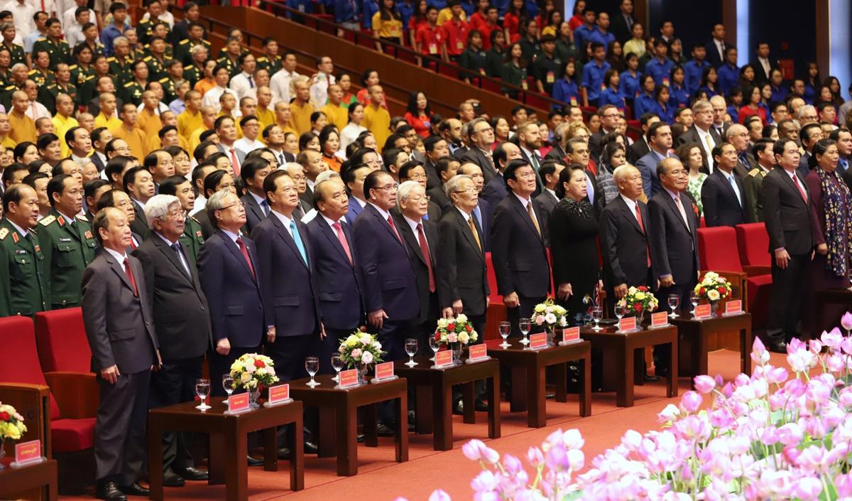 Các đại biểu tham dự lễ kỷ niệm 130 năm ngày sinh Chủ tịch Hồ Chí Minh. Ảnh: VGP