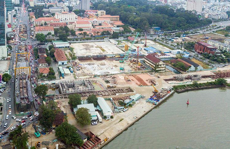 Khu vực nhà máy đóng tàu Ba Son nhìn từ trên cao thời điểm tháng 12/2019. Ảnh: Quỳnh Trần