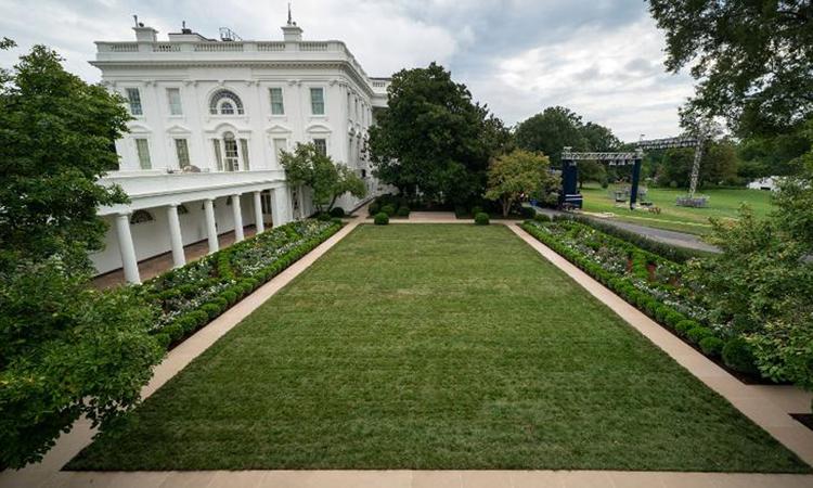Quang cảnh Vườn Hồng Nhà Trắng sau khi được cải tạo. Ảnh: CNN.