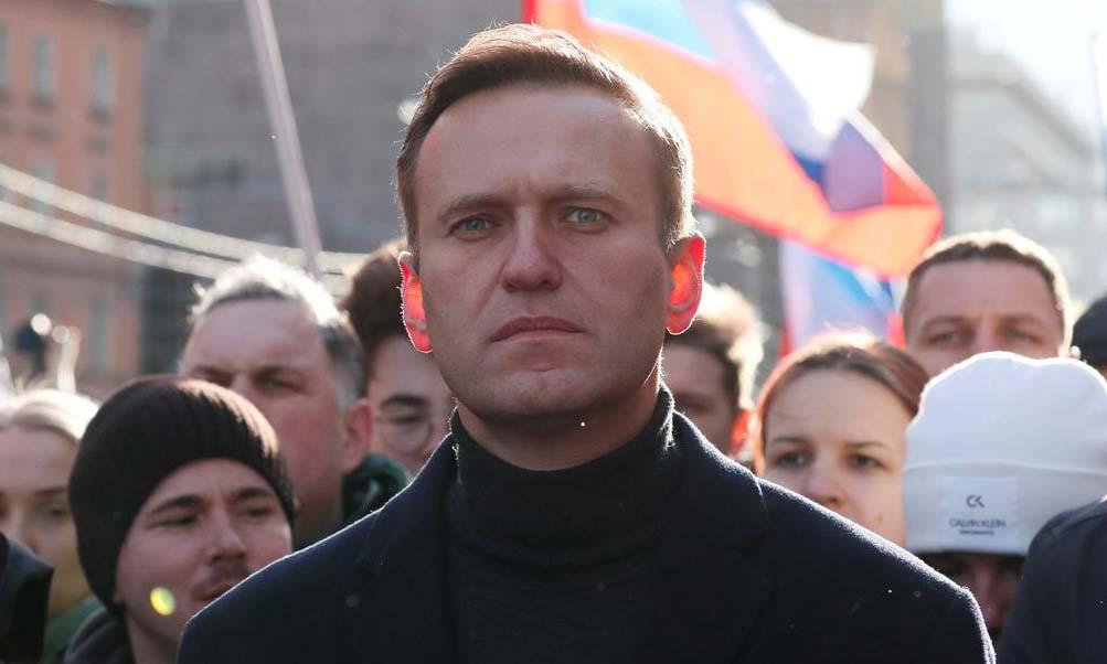 Lãnh đạo đối lập Nga Alexei Navalny tại Moskva hôm 29/2. Ảnh: Reuters.