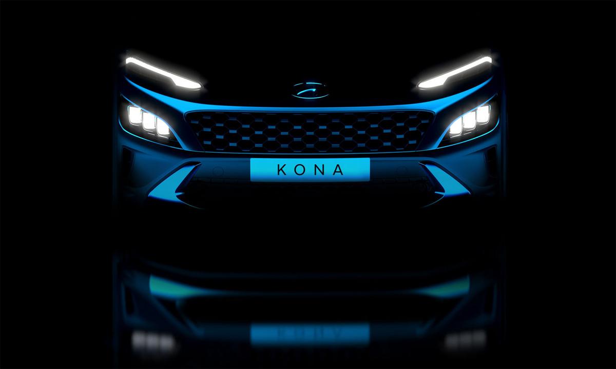 Kona phiên bản nâng cấp với lưới tản nhiệt và đèn pha tách biệt. Ảnh: Hyundai