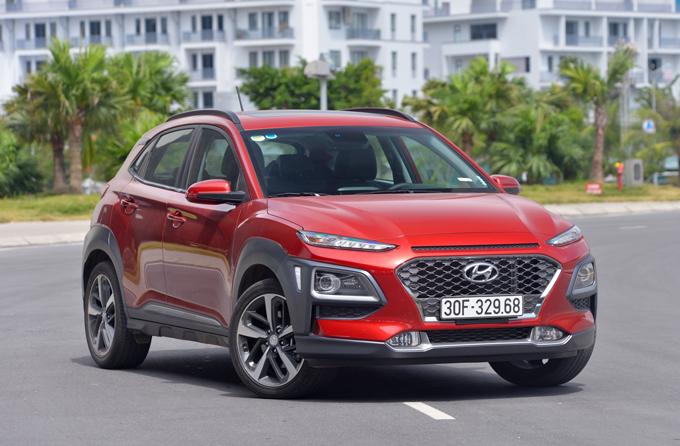 Hyundai Kona phiên bản hiện hành tại Việt Nam. Ảnh: Đức Huy
