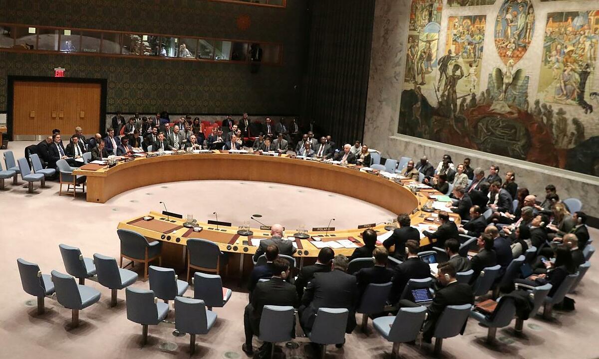 Các thành viên Hội đồng Bảo an Liên Hợp Quốc họp tại trụ sở ở New York, Mỹ, tháng 2/2019. Ảnh: Reuters.