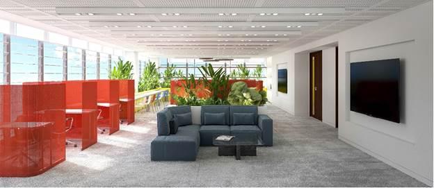 SIU startUP mô phỏng văn phòng làm việc đúng chuẩn quốc tế của một coworking space hiện đại