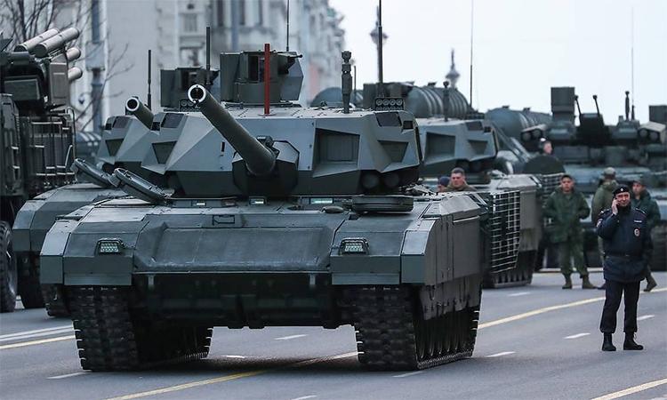 Tăng chủ lực T-14 Armata tham gia Duyệt binh Chiến thắng tại Moskva, Nga, tháng 5/2019. Ảnh: TASS.