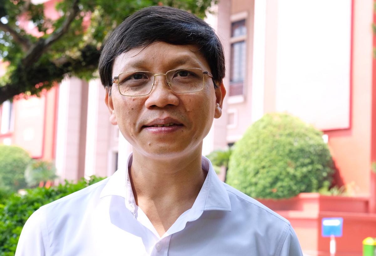 PGS. TS Lý Việt Quang - Viện trưởng Viện Hồ Chí Minh và các lãnh tụ của Đảng, Học viện Chính trị quốc gia Hồ Chí Minh. Ảnh: Hoàng Thuỳ