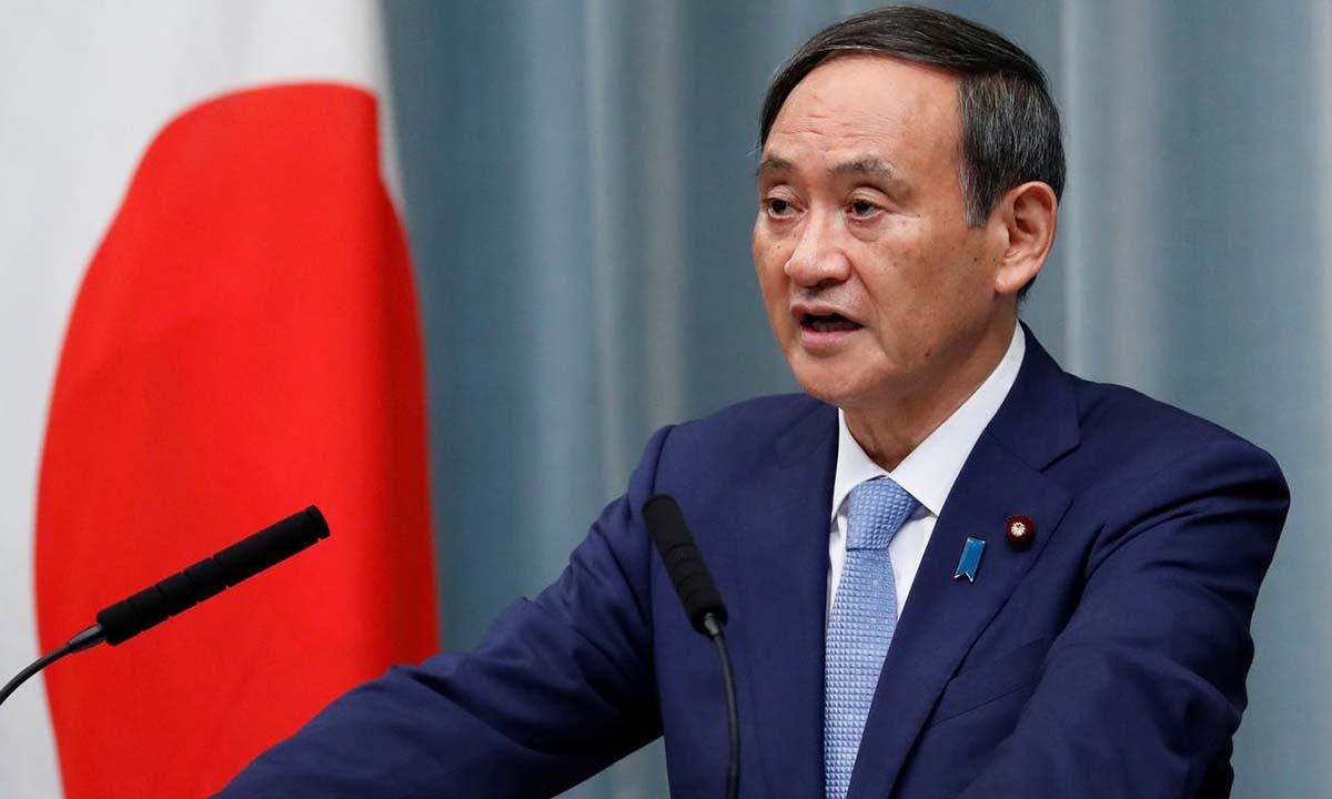 Chánh văn phòng Nội các Nhật Yoshihide Suga tại cuộc họp báo ở Tokyo hồi tháng 9/2019. Ảnh:Reuters.