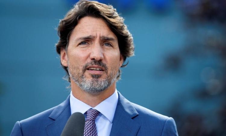 Thủ tướng Canada Justin Trudeau phát biểu tại Montreal, Quebec, hôm 31/8. Ảnh: Reuters.