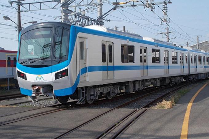 Do ảnh hưởng Covid-19 nên hiện đoàn tàu Metro Số 1 đang nằm tại nhà máy ở Nhật Bản. Ảnh:MAUR.