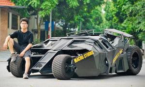 Sinh viên bỏ nửa tỷ đồng tự chế xe Batmobile