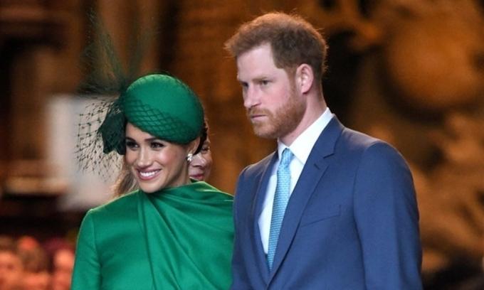 Vợ chồng Harry - Meghan tại sự kiện ở tu viện Westminster, London, Anh, hôm 9/3. Ảnh: AFP.