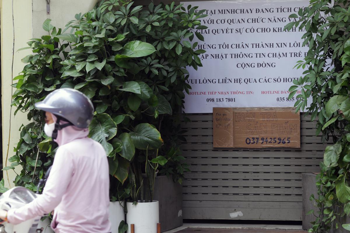 Cửa hàng 30 Mã Mây, quận Hoàn Kiếm - nơi cung cấp các sản phẩm pate Minh Chay chiều 3/9. Ảnh: Tất Định.