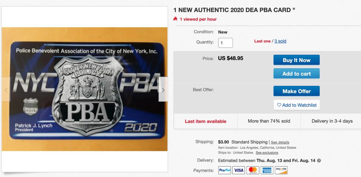 Thẻ đãi ngộ được rao bán trên Ebay, trang web bán hàng trực tuyến. Ảnh: Ebay.