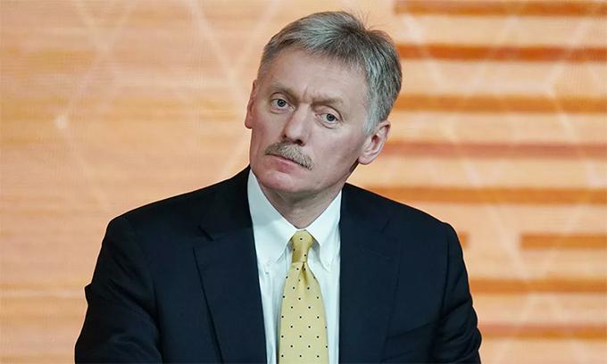 Phát ngôn viên Điện Kremlin Dmitry Peskov trong cuộc họp báo tại Moskva, Nga, tháng 12/2019. Ảnh: RIA Novosti.