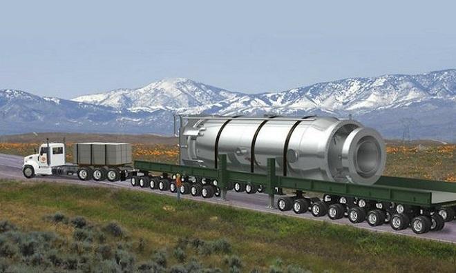 Thiết kế lò phản ứng hạt nhân cỡ nhỏ của NuScale. Ảnh: NPR.