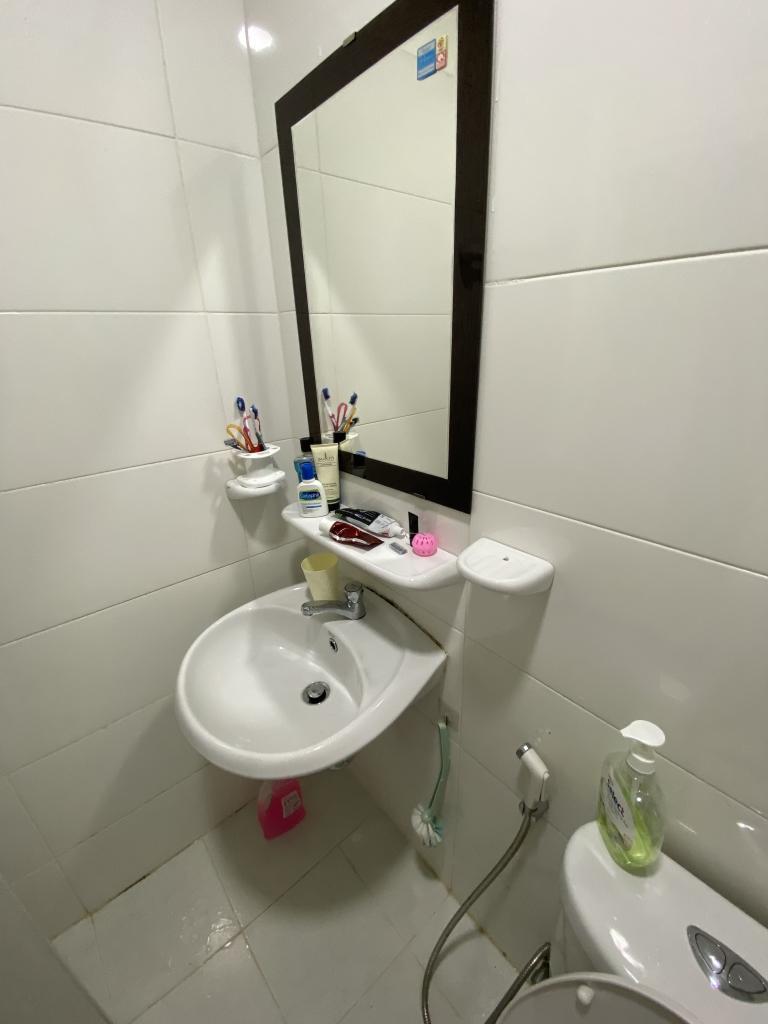 Một góc phòng tắm của gia đình.