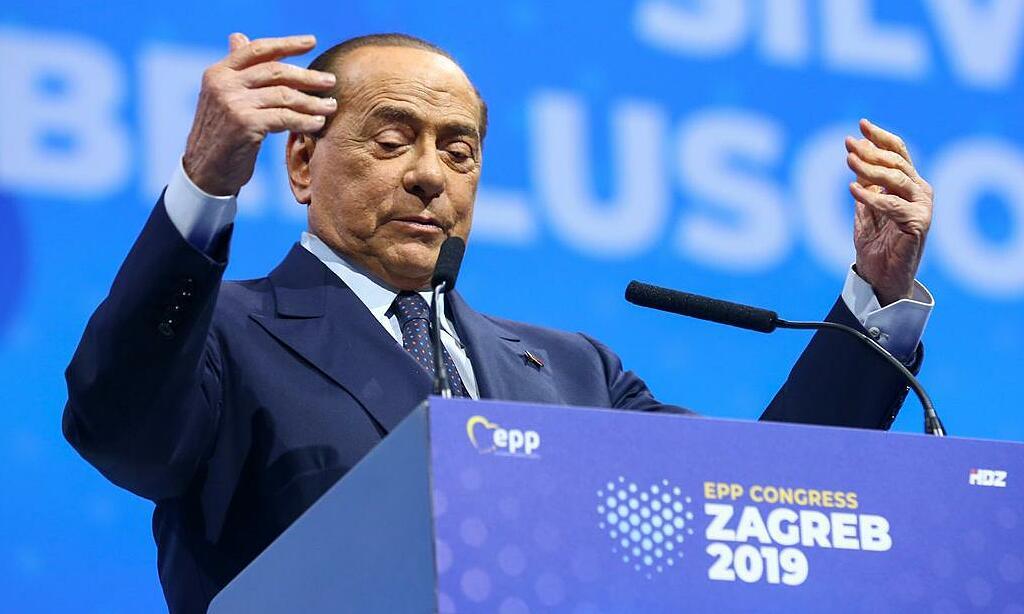 Cựu thủ tướng Italy Berlusconi tại một sự kiện ở Croatia, tháng 11/2019. Ảnh: Reuters.