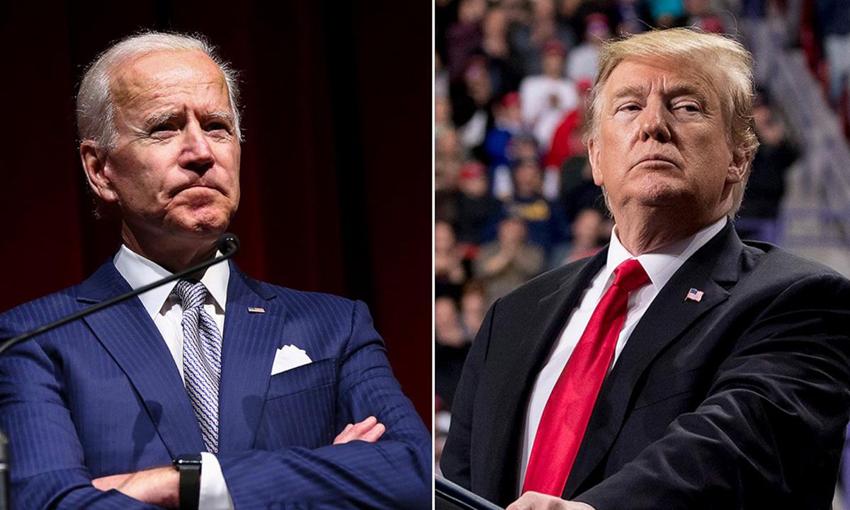 Ứng viên Dân chủ Joe Biden (trái) và Tổng thống Mỹ Donald Trump. Ảnh: ABCNews.