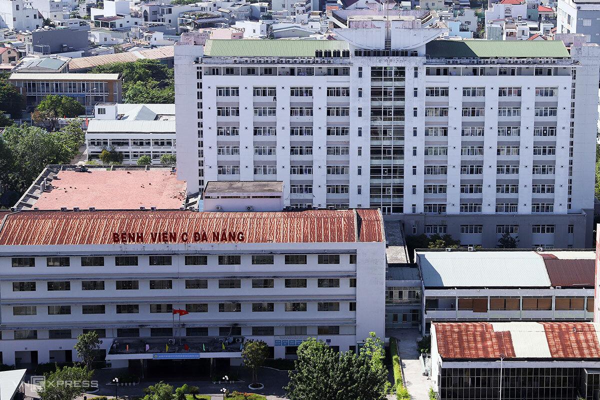 Bệnh viện C nơi bệnh nhân đến cấp cứu và xét nghiệm dương tính với nCoV. Ảnh: Nguyễn Đông.