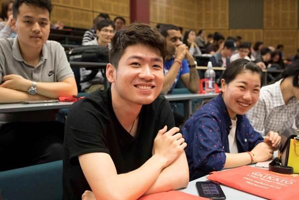 Sinh viên Đại học Waikato trong một buổi học tập tại giảng đường.