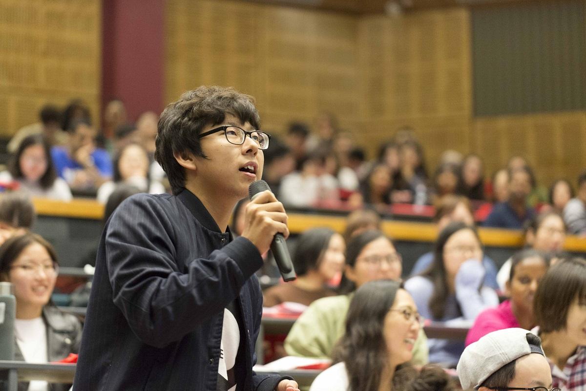 Sinh viên quốc tế trên giảng đường Đại học Waikato, New Zealand.
