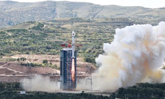 Tên lửa Trường Chinh 4B cất cánh tại Trung tâm phóng vệ tinh Thái Nguyên hôm 7/9. Ảnh: Space.