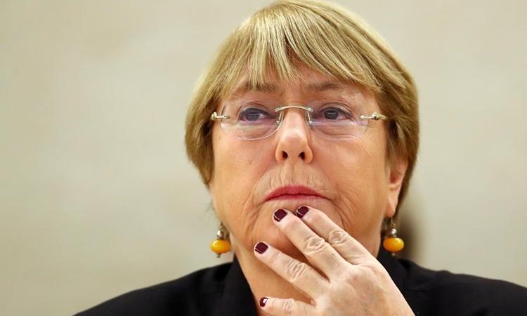 Cao ủy Nhân quyền Liên Hợp Quốc Michelle Bachelet tại Geneva hồi tháng 9/2019. Ảnh: Reuters.