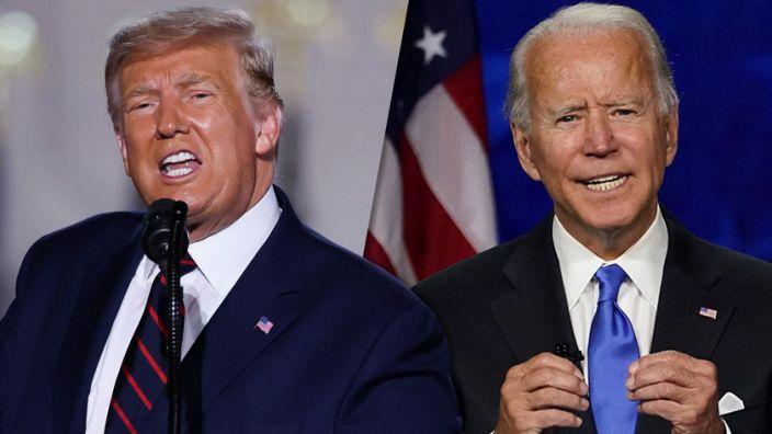 Tổng thống Trump (trái) và ứng viên đảng Dân chủ Joe Biden. Ảnh: Reuters.