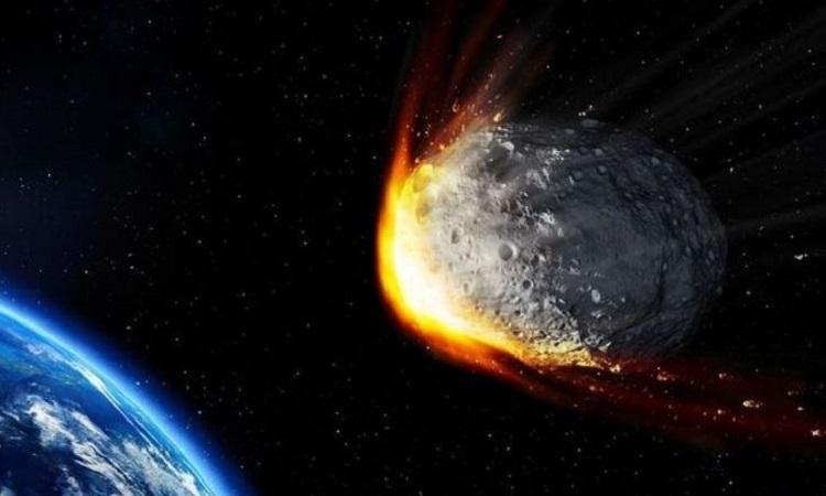 Mô phỏng thiên thạch bay gần Trái Đất. Ảnh: NASA.