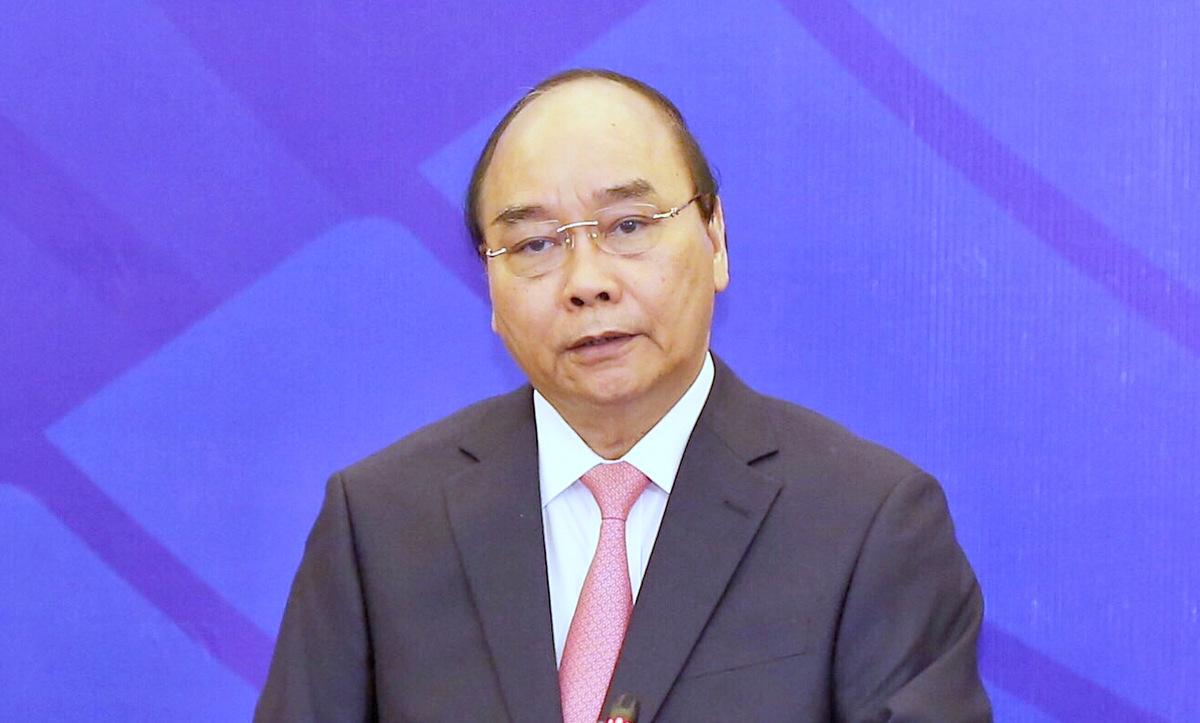 Thủ tướng Việt Nam Nguyễn Xuân Phúc phát biểu tại lễ khai mạc AMM 53 sáng 9/9 tại Hà Nội. Ảnh: Giang Huy.
