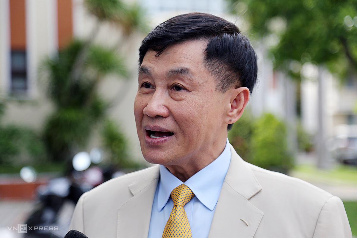 Ông Johan Hạnh Nguyễn, Chủ tịch tập đoàn IPPG trong buổi ký kết lập quy hoạch Khu kinh tế Vân Phong, chiều 9/9. Ảnh: Xuân Ngọc.