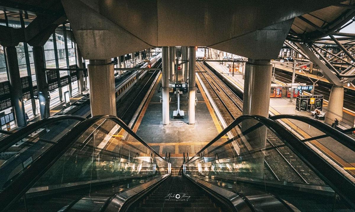 Nhà ga xe lửa Southern Cross vắng như chùa Bà Đanh. Ảnh: Minh Thông