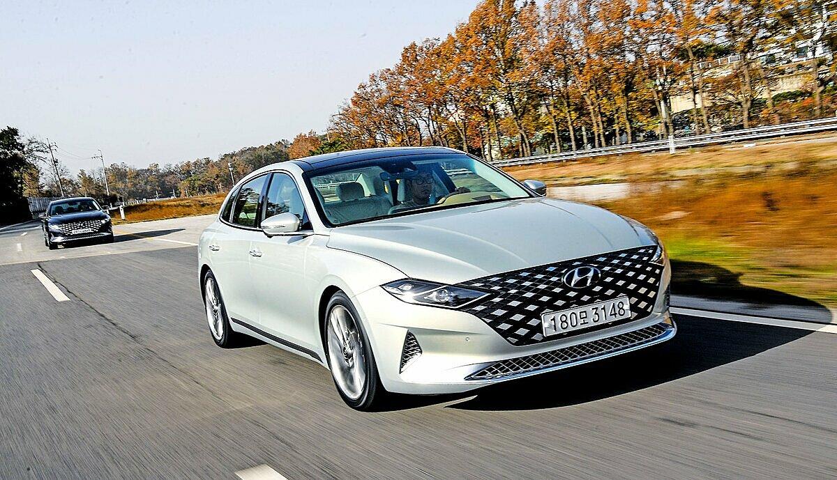 Grandeur 2020 lăn bánh tại Hàn Quốc. Ảnh: Hyundai