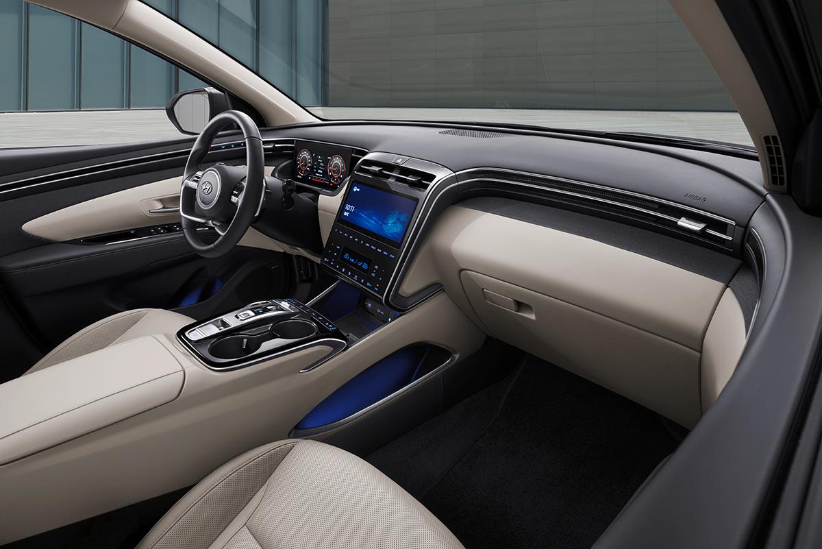 Nội thất Tucson 2021 hiện đại hơn. Ảnh: Hyundai