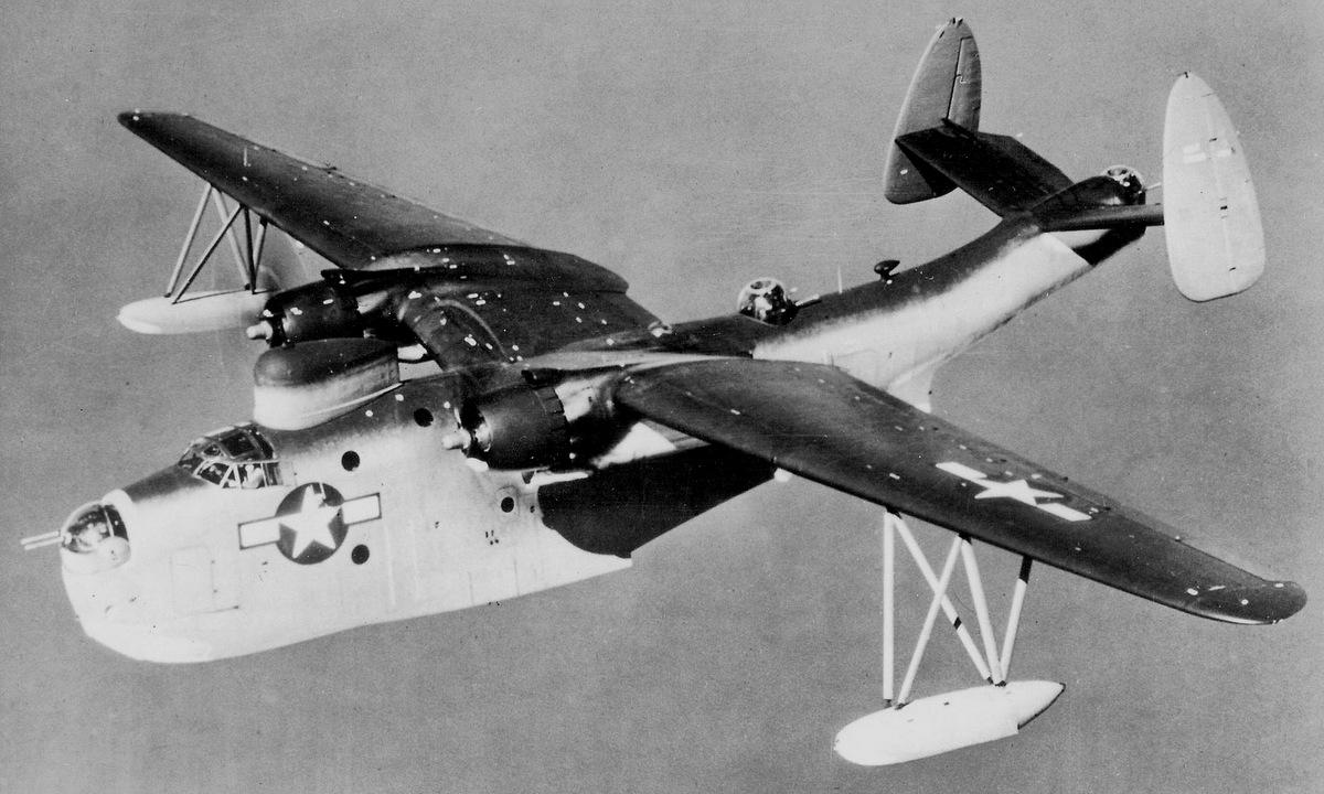 Thủy phi cơ PBM Mariner Mỹ làm nhiệm vụ năm 1945. Ảnh: US Navy.