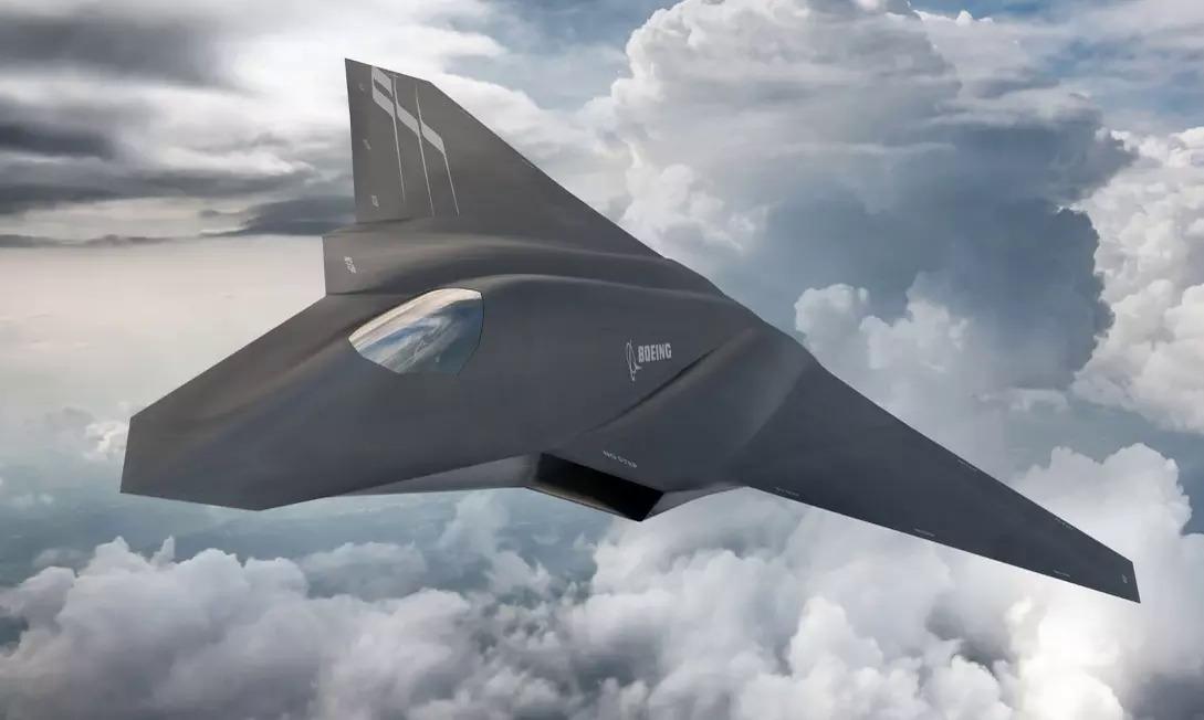 Bản mẫu thiết kế của một tiêm kích trong dự án NGAD. Ảnh: Boeing.