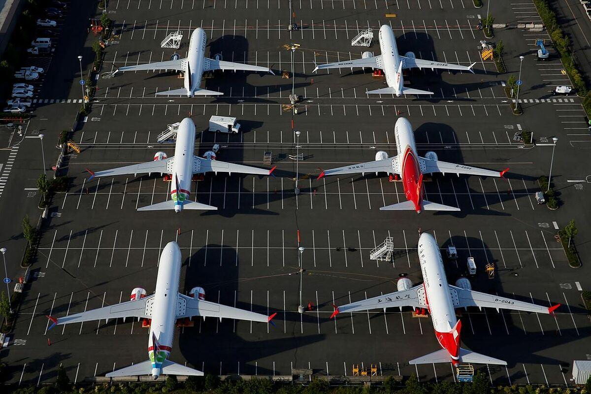 Máy bay 737 MAX tại sân đỗ của Boeing tại Seattle hồi tháng 6. Ảnh: Reuters