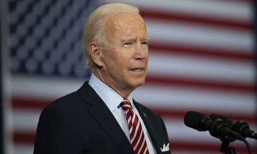 Ứng viên tổng thống đảng Dân chủ Joe Biden phát biểu tại thành phố Tampa, bang Florida, Mỹ, hôm 15/9. Ảnh: AFP.