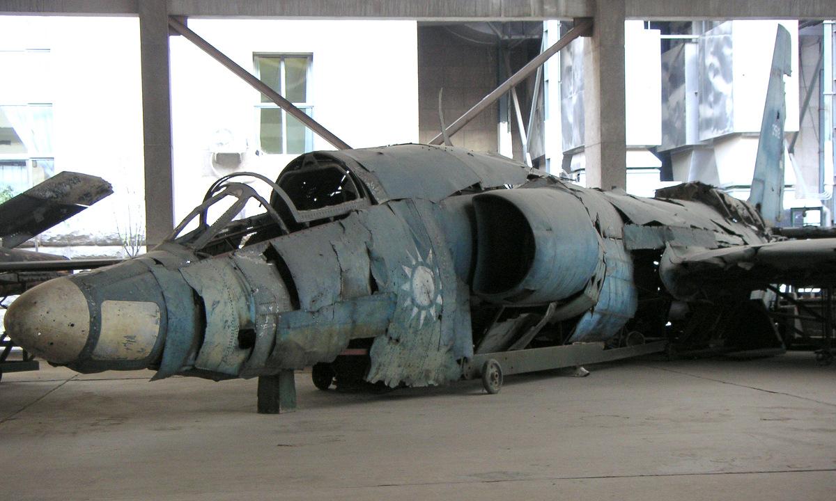 Xác một chiếc U-2 bị Trung Quốc bắn hạ được trưng bày trong bảo tàng. Ảnh: Flickr/Paul Cheese.