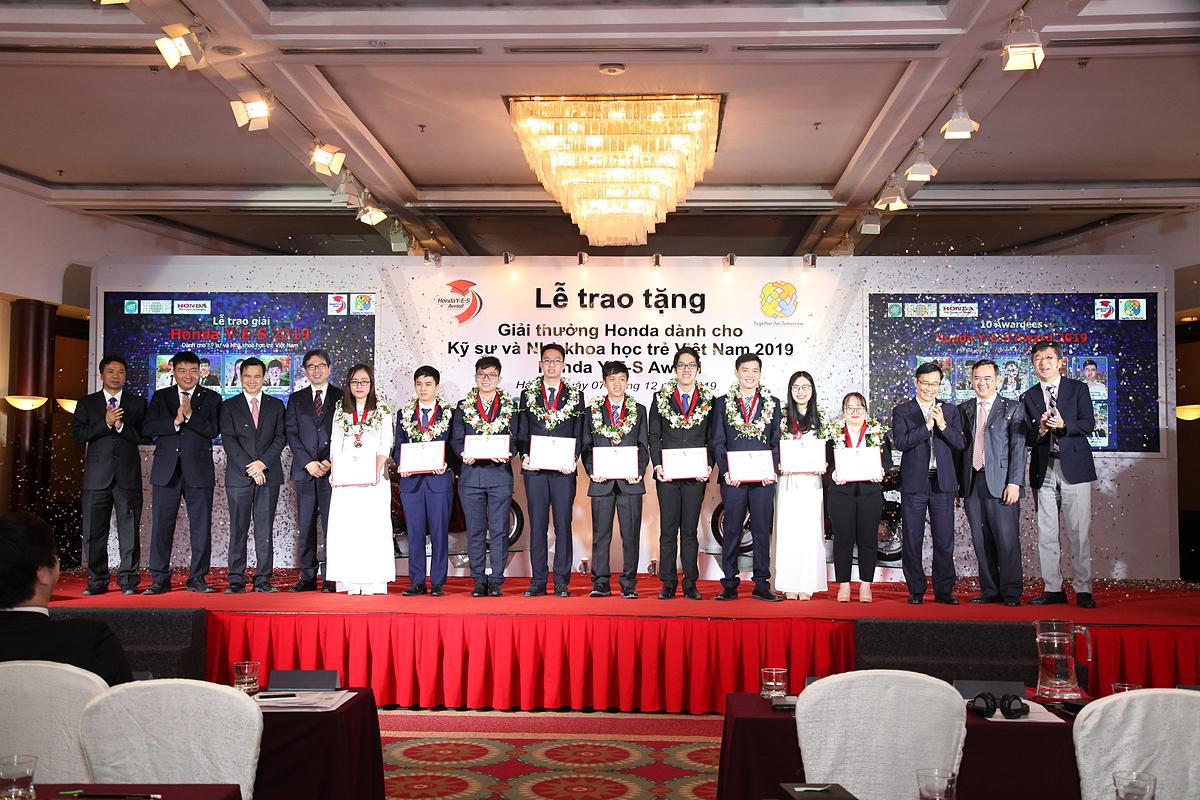Giải thưởng Honda dành cho Kỹ sư và Nhà khoa học trẻ Việt Nam năm 2019.
