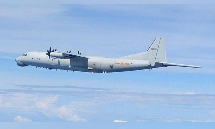 Máy bay săn ngầm Trung Quốc hoạt động gần Đài Loan hôm 10/9. Ảnh: Lực lượng phòng vệ Đài Loan.