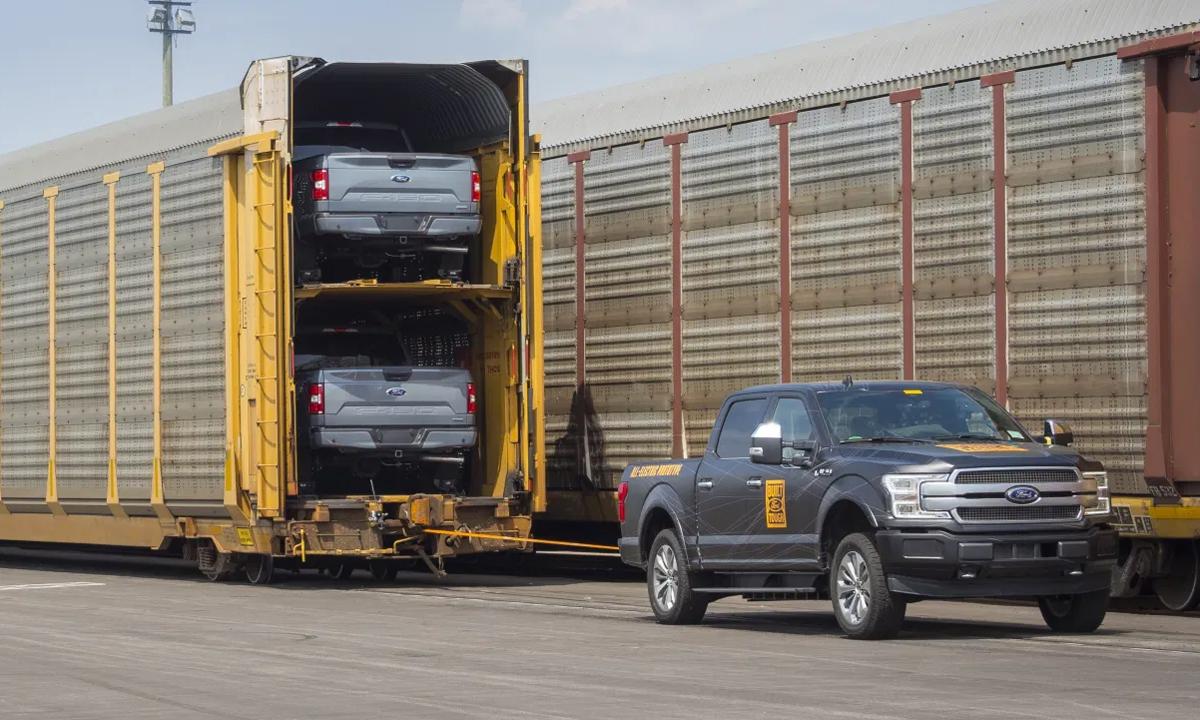 F-150 phiên bản điện trong quá trình thử nghiệm hồi giữa năm 2019. Ảnh: Ford