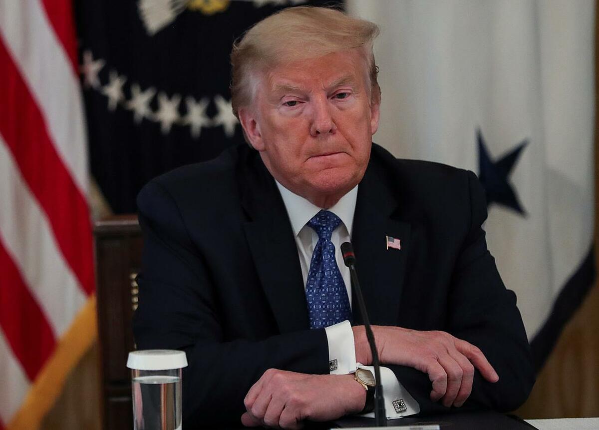 Tổng thống Mỹ Trump tại một cuộc họp ở Nhà Trắng, thủ đô Washington, ngày 19/5. Ảnh: Reuters.