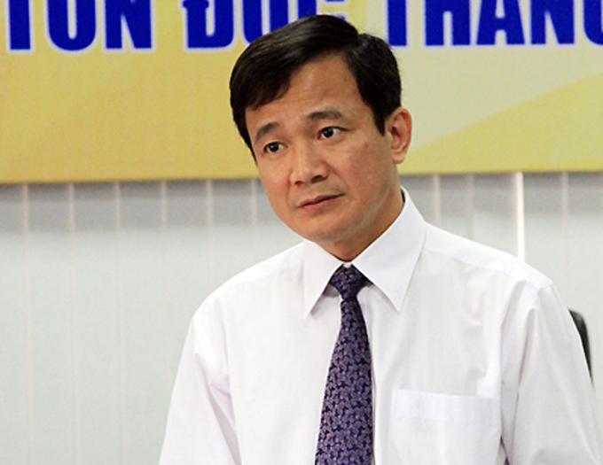 Ông Lê Vinh Danh trong buổi làm việc tại Đại học Tôn Đức Thắng tháng 3/2016. Ảnh: Mạnh Tùng