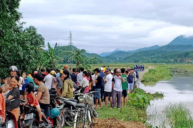 Đập tràn thoát lũ ở xã Sơn Giang, nơi xảy ra vụ đuối nước. Ảnh: Đức Hùng