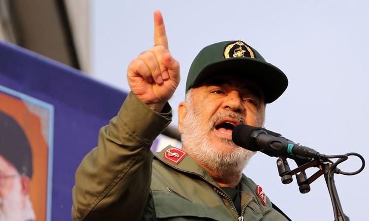 Thiếu tướng Hossein Salami, chỉ huy Lực lượng Vệ binh Cách mạng Hồi giáo Iran (IRGC). Ảnh: AFP.