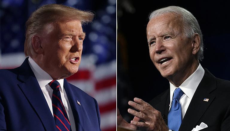 Tổng thống Trump (trái) và ứng viên đảng Dân chủ Joe Biden. Ảnh: AFP.